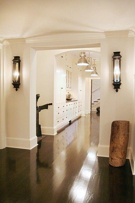 white walls & dark floors. love