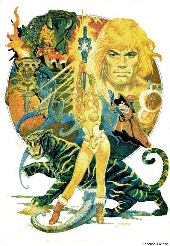 Masters of the Universe by Esteban MarotoGeek, He Man, Esteban Maroto, Picture-Black Posters, The Universe, Heman, Painting, Master, Art Illustration