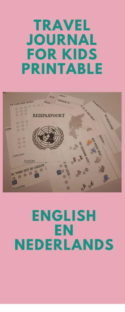 Travel journal printable voor kinderen - Gratis  - Crea-Cross https://blog.kreanimo.com/travel-journal-printable-gratis/