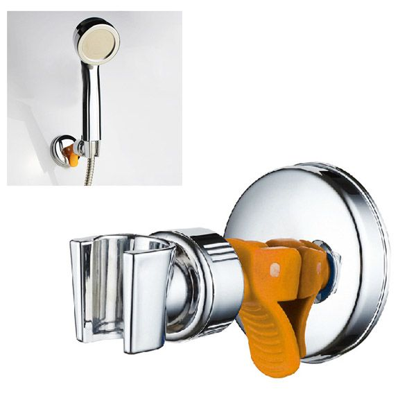 Adjustable Shower Head Holder with Suction Cup Chrome Bracket