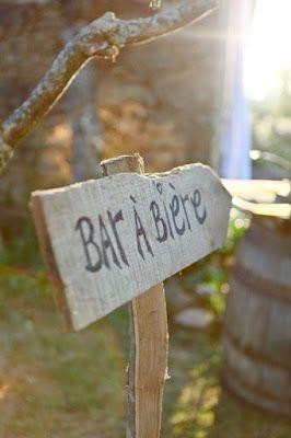 bar à bière pour la fête des pères