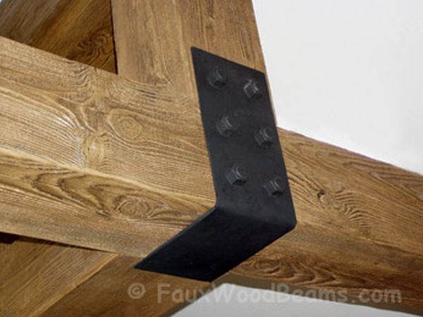 Beam Straps Plates Hangers Fake Wood Beam Accessories