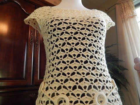 Crochet blusa de verano azul - con Ruby Stedman - YouTube