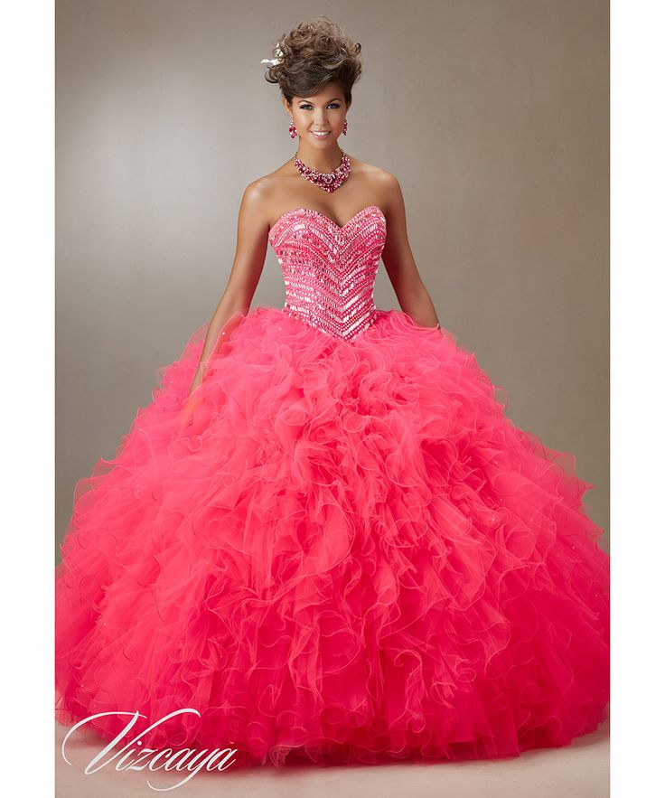 Hot Pink Quinceanera Dresses Ball Gowns 2016 #89072