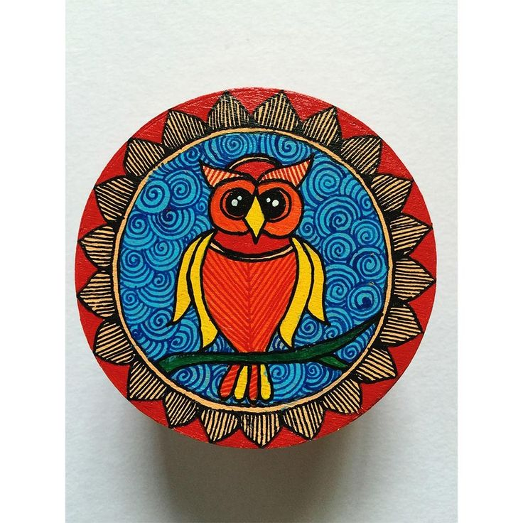 Madhubani Hand-Painted Trinket Box