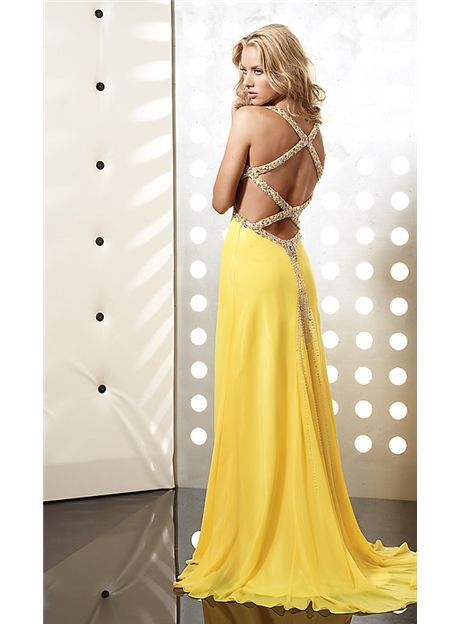 Cheap Sexy Yellow Prom Dress Long Yellow Dresses for Prom Under Price $128.99 - dressite.com.