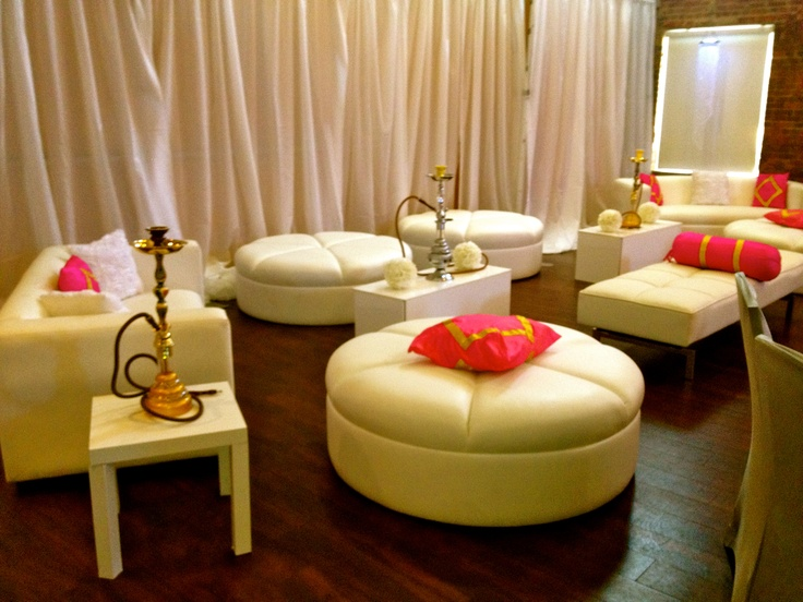 Lounge Furniture Hookah Pink Accent Pillows In TheGreatRoom