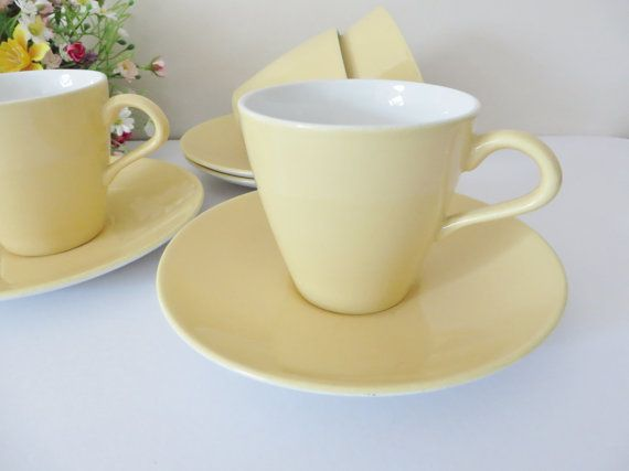 Poole vintage 1960's yellow tea cup and by MaddyVintageHostess