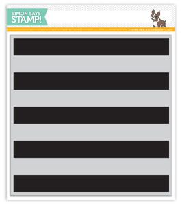 *Simon Says Cling Rubber Stamp WIDE STRIPES BACKGROUND SSS101383