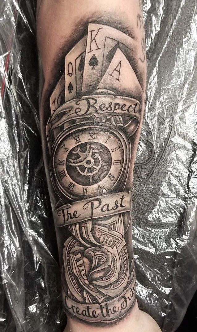 Clock Tattoo Clock Tattoo Ideas Cool Forearm Tattoos Forearm Tattoo Men Tattoos