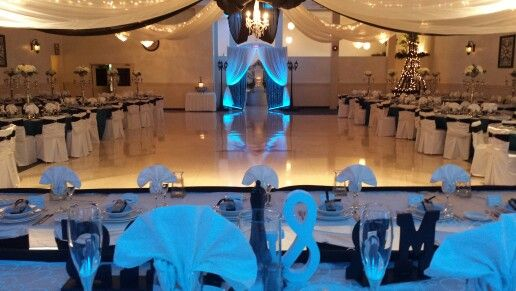 Beautifully decorated and ready for Kelly and jeff weddings.