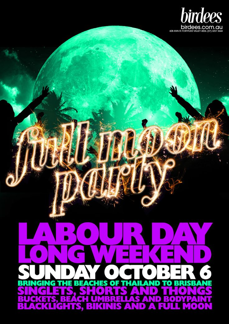 FULL MOON PARTY | OCTOBER 6 #fullmoonparty #uv #paint #party #dj #brisbane #valley