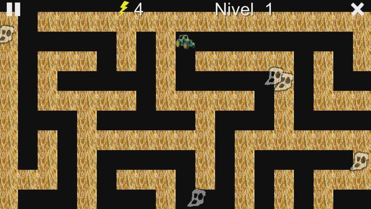 Un nuevo juego.  Resuelve los laberintos. Evite fantasmas y esqueletos de miedo.  Disponible para Android (Google Play) y Tienda Windows.