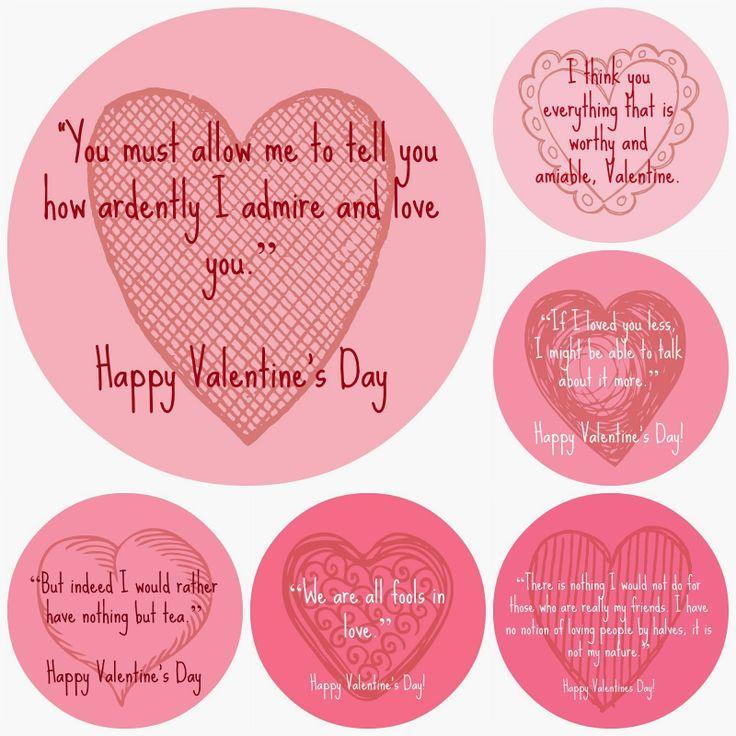 A Valentine's Day treat - Jane Austen Valentines!