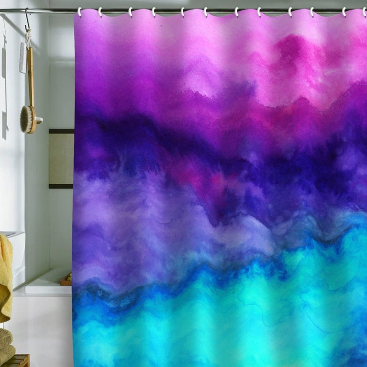 DENY Designs Jacqueline Maldonado Water Color Shower Curtain - Fabric Shower Curtains at Hayneedle