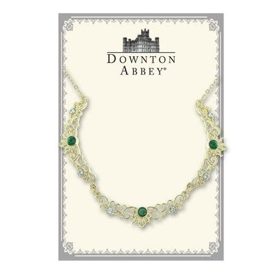"$35+ FREE S/H!! from #TheSingingSpaniel's #BridalGifts - #Downton #Abbey® #Diamond and #Emerald Look #Jewel #Gold Tone #Filigree #Scalloped #Necklace | #Belle #Epoch #Collar | from #1928 #Jewelry - #Adjustable 16""-19"" Long - #unique #design! - #Decadent #Beautiful #Wedding #Bridal or #prom #Gift #pretty #princess #night #beautiful #royalty #elegant #vintage #Edwardian #Victorian #women's #style - #NickelFree and #MadeintheUSA!"