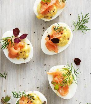 Gefüllte Eier mit Räucherlachs
