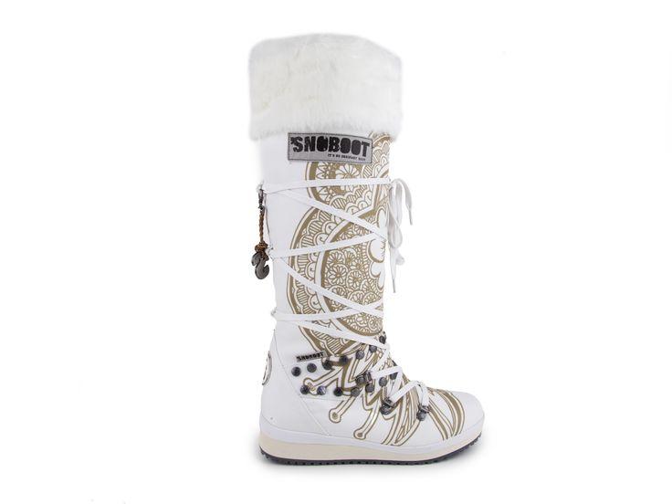 Snoboot - Luxusní módní sněhule Mutant High Tattoo Basic / bílá