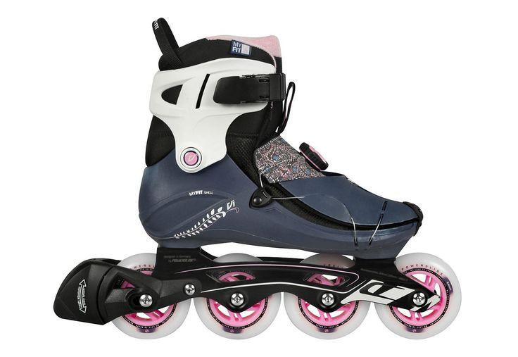 Powerslide Inline Skates Damen, »VI Cortex Pure«.  Die Inline Skates Vi Cortex von Powerslide sind ein super bequemer Fitness Skate für Damen. Sowohl der MY FIT Innenschuh als auch die MY FIT Schale der Inliner lassen sich bei ca. 80°C kinderleicht thermisch anpassen und sorgen so für einen perfekte Passform, so wie man es von Skischuhen her kennt. Einzigartig in dieser Preisklasse ist die eint...