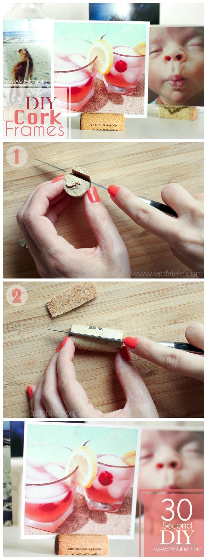 30 second DIY - cork frame for your square instagram pictures