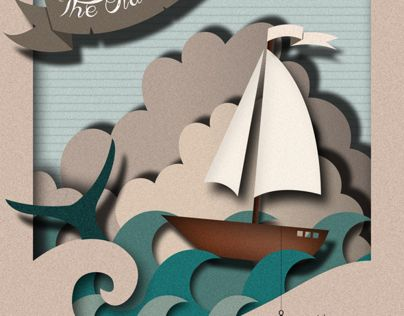 I created this design for Ernest Hemingway's 'The Old Man and the Sea'.