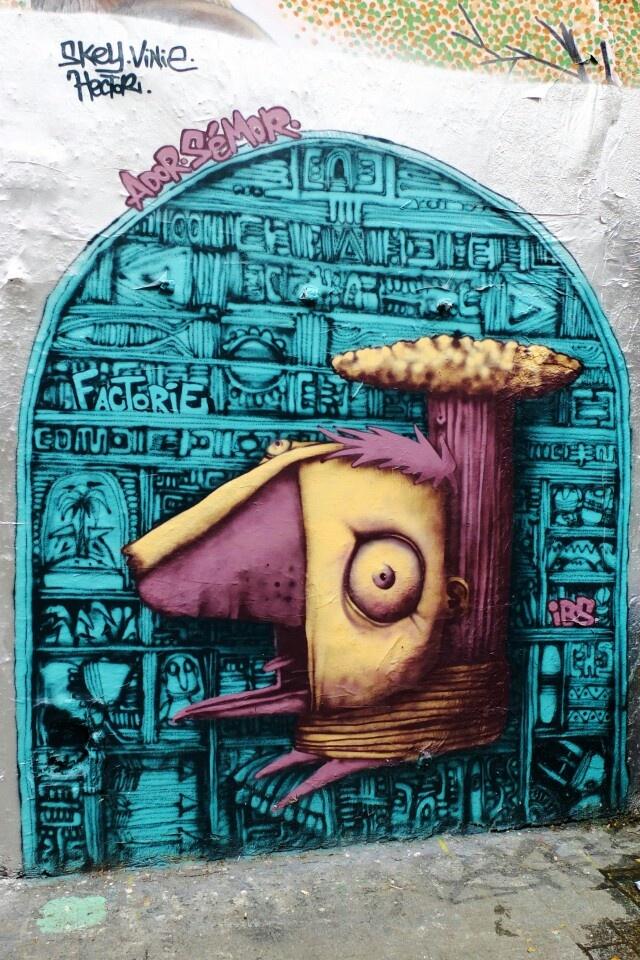 Ador sémor - street art - Paris 20 - rue Dénoyez