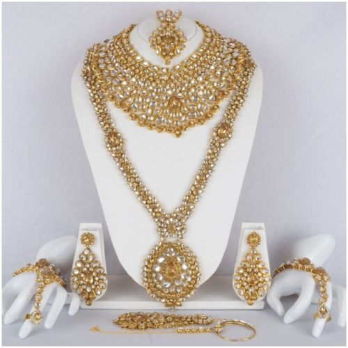 Indian-Bollywood-Style-Fashion-Gold-Plated-Bridal-Jewelry-Necklace-Set-8887