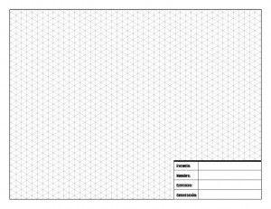 Retícula Hoja para Dibujo tecnico isometrico