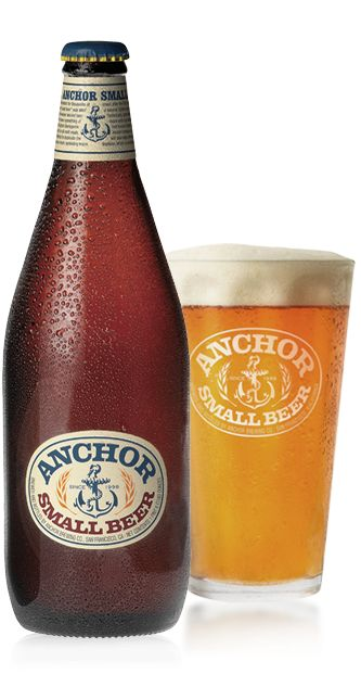 Cerveja Anchor Small Beer, estilo Extra Special Bitter/English Pale Ale, produzida por Anchor Brewing Company, Estados Unidos. 3.3% ABV de álcool.