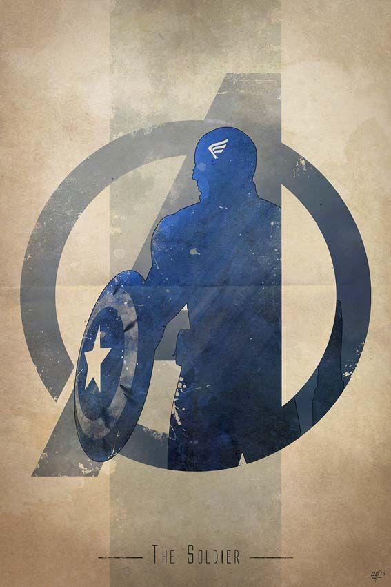 Anthony Genuardi - Avengers Logo - Captain America