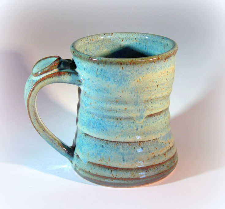 Large pottery coffee mug handmade stoneware pottery for Pottery cup ideas