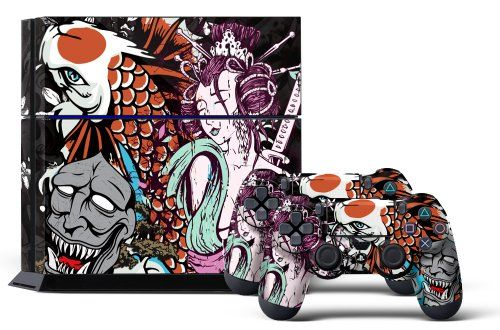 PS4 Designer Skin for Sony PlayStation 4 Console System plus Two(2) Decals for: PS4 Dualshock Controller - Tsunami - http://www.rekomande.com/ps4-designer-skin-for-sony-playstation-4-console-system-plus-two2-decals-for-ps4-dualshock-controller-tsunami-2/