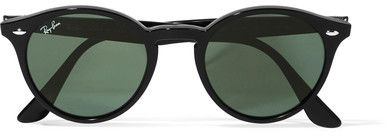 Ray-Ban - Round-frame Acetate Sunglasses - Black