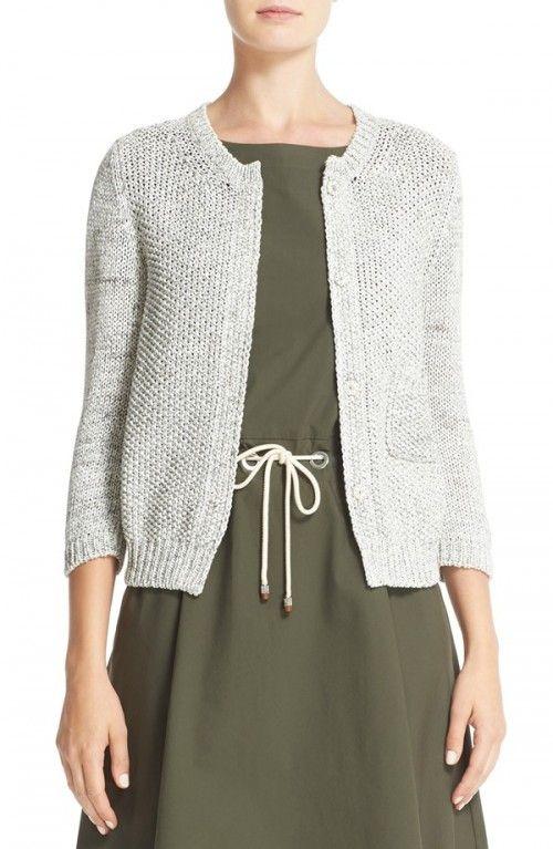 Fabiana+Filippi+Women's+Cotton+Cardigan+|+Sweater+and+Clothing