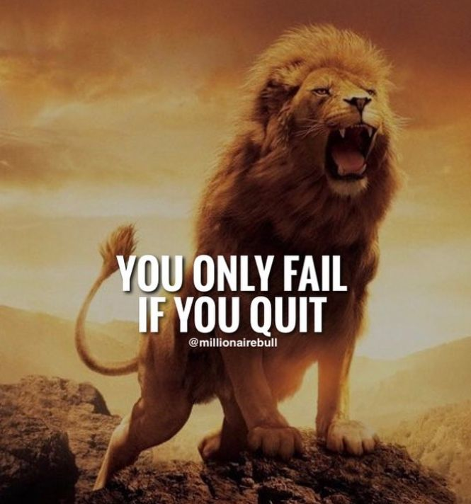 you only fail if you quit.
