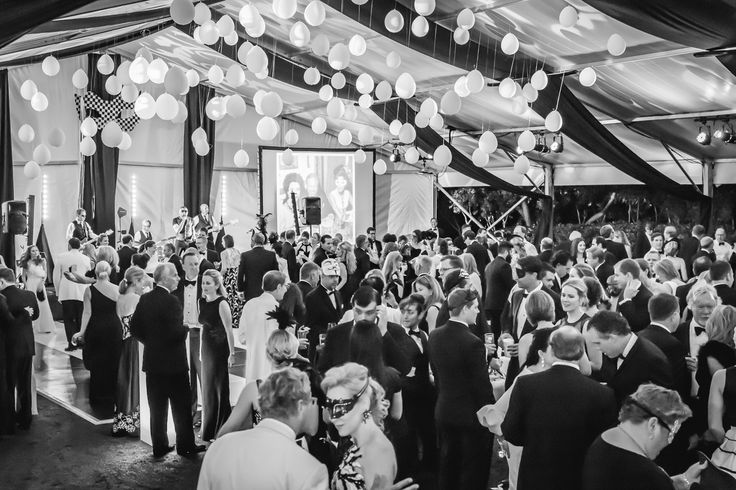 Rental tent converted into the perfect event space for an elegant gala.