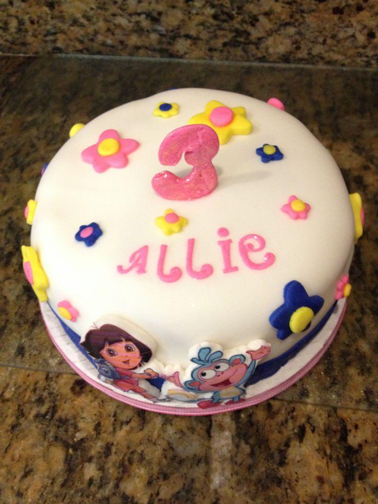 Dora the explorer cake with