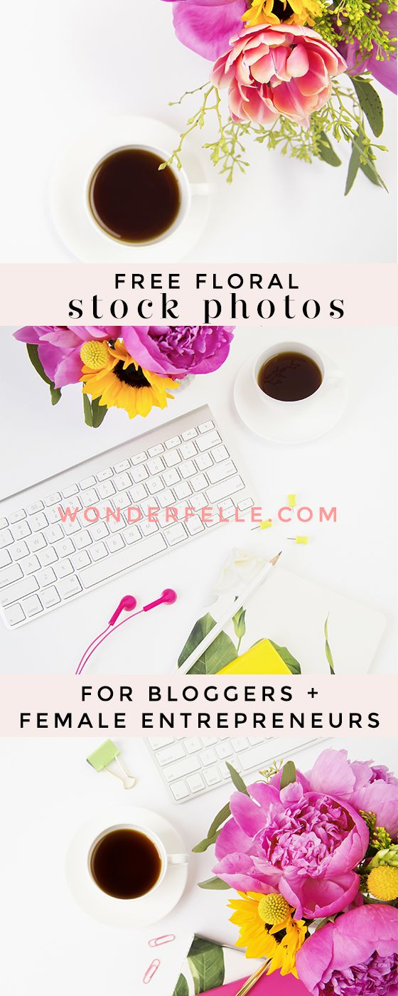 Download 5 free floral styled stock photos for bloggers and female entrepreneurs - perfect stock photos for social media. Free stock photos for non-commercial use.