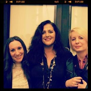 With Angela Missoni & a friend @ V