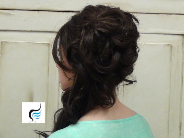 Cascading Side Updo For Long Hair Prom Or Weddings Hairstyles