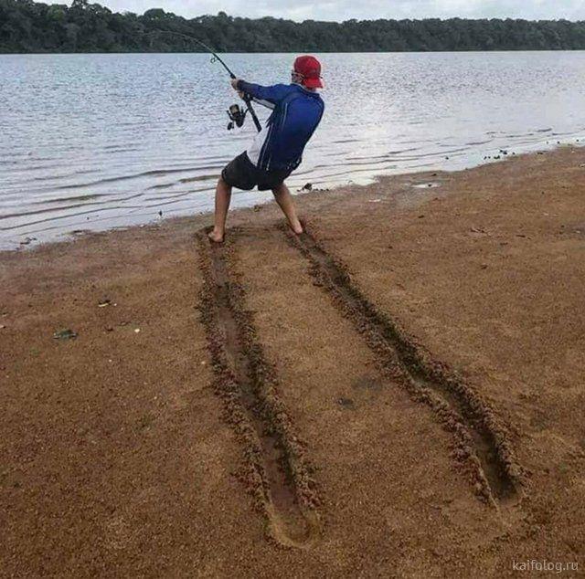 Приколы на день рыбака (40 фото) | Нахлыст, Ловля форели, Рыбалка