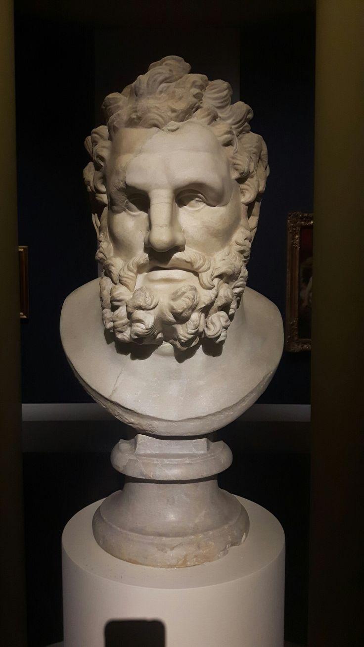 Testa colossale di Ercole. Roma. Musei Capitolini.  II sec. d.C.