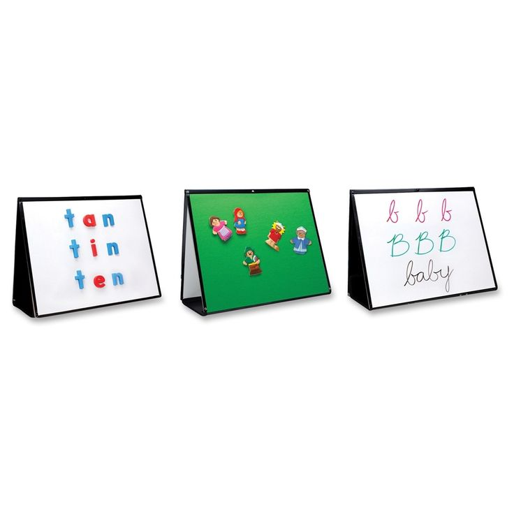 """Educational+Insights+3-in-1+Portable+Easel+-+20""""+(1.7+ft)+Width+x+15""""+(1.3+ft)+Height+-+Rectangle+-+Desktop,+Tabletop,+Floor+Standing+-+1+Each"""