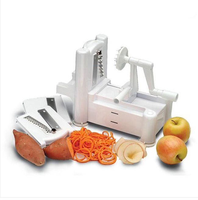 Nice Things To Buy For A Kitchen #12: Fruit Garnish Cutter Peeler Spiral Fruits Vegetable Curly Slicer Kitchen Tools E384 FREE SHIPPING-in