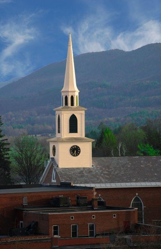 Congregational Church Brandon, Vt - I've always loved this steeple
