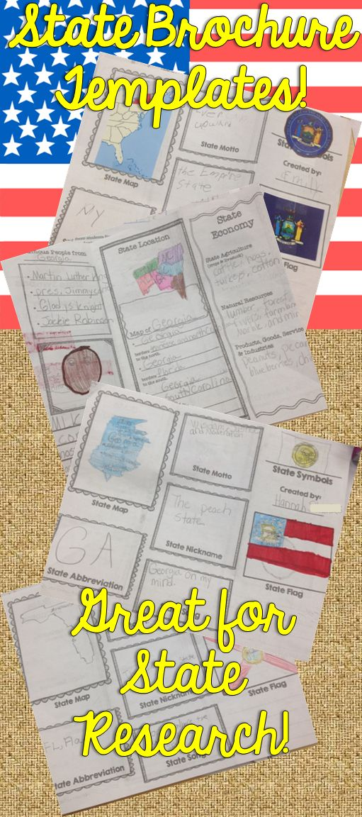 Students will love creating their own state travel brochure! Students can research, create, and present information about any state in the USA. Great for presentations, home projects, and group or individual research. This format can also be made into a travel style pamphlet/booklet with multiple pages. Choose from 8 different cover layouts and 5 different inside layouts.