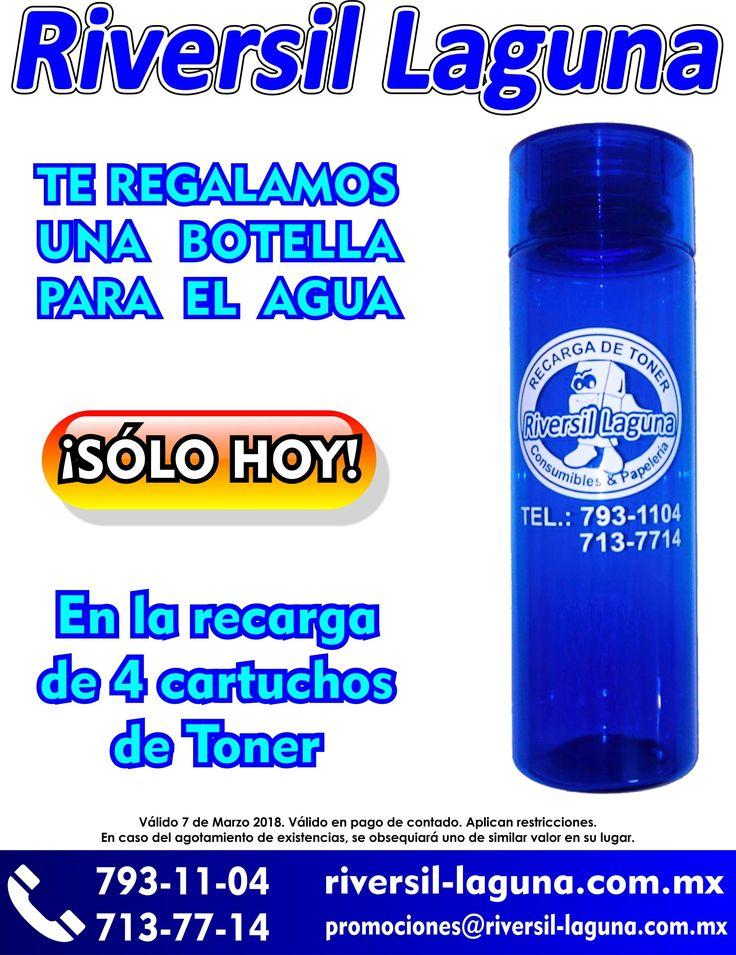 #Hoy te regalamos una #botella para el #agua, con tus #recargas de #toner  Entrega a #domicilio  Llámanos: 793-11-04 267-37-38 455-28-82 267-68-36 713-65-94 713-77-14 712-36-21