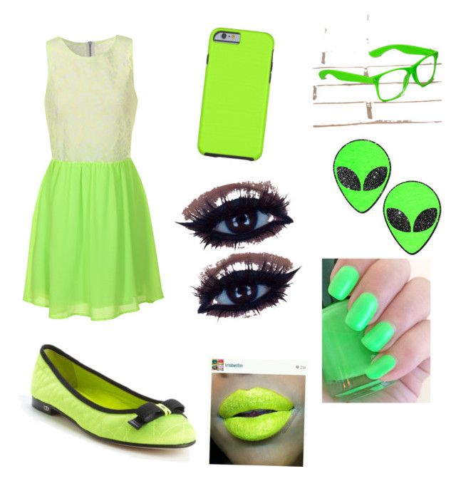 """""""Neon green outfit"""" by angie368211 on Polyvore"""