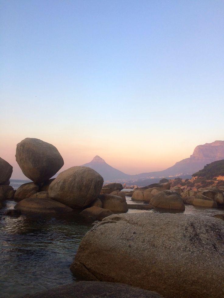 Balancing rock Kogelbaai Cape Town