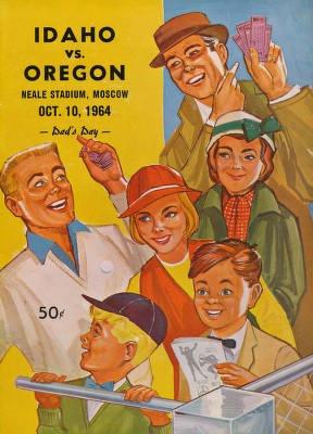 1964 Football game program cover - Idaho v. Oregon - nowadays I root for both:)